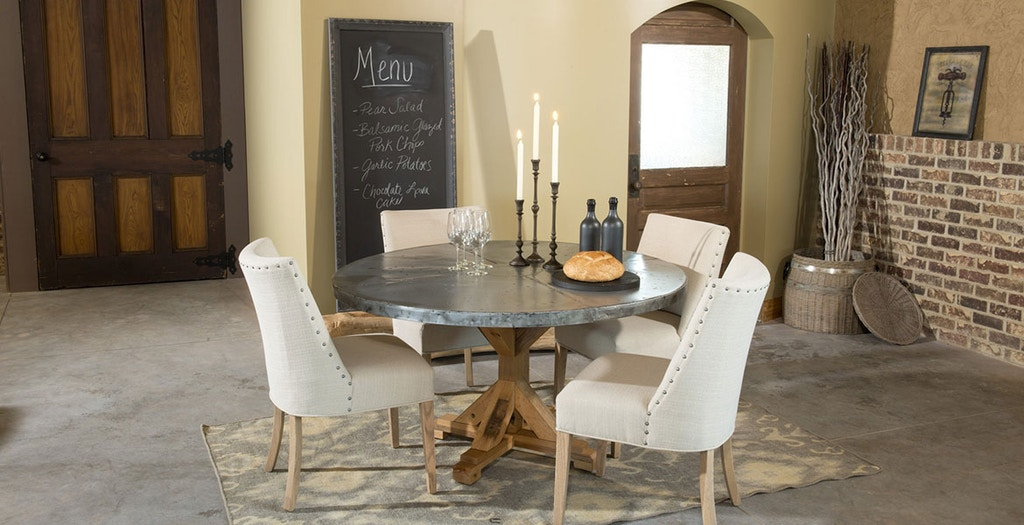 Miraculous Palettes By Winesburg 4848Sqzi Dining Room Square Zinc Table Top Cjindustries Chair Design For Home Cjindustriesco