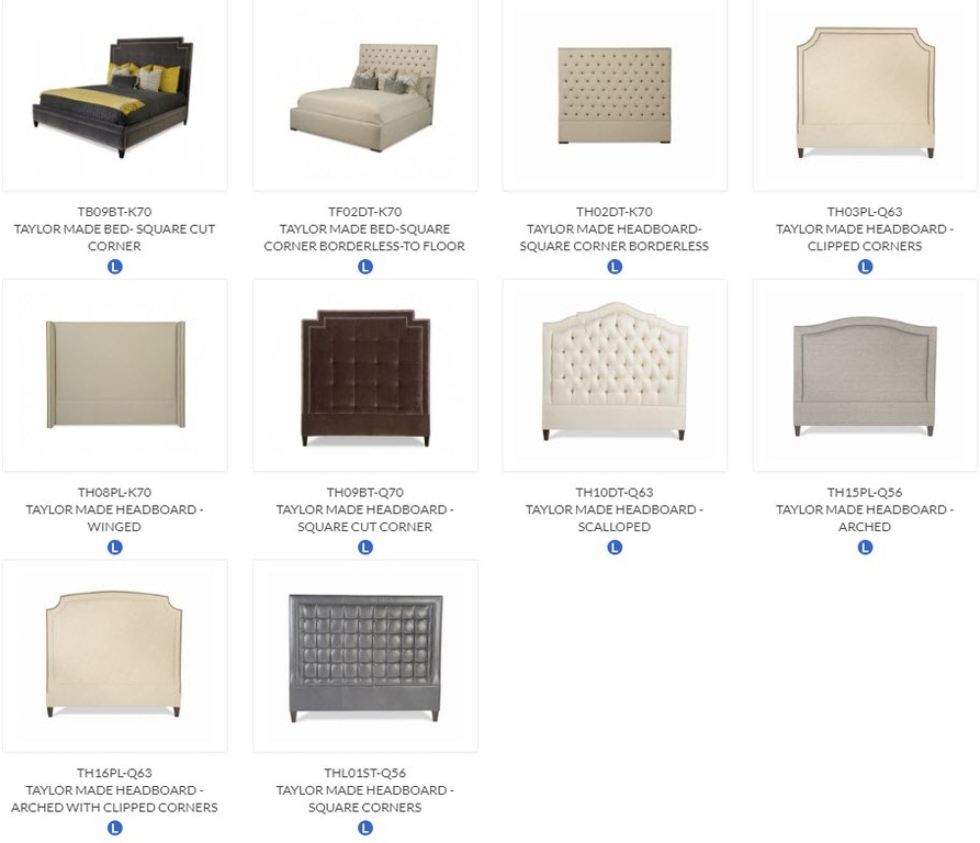 Tb09bt K70 Taylor King Furniture Made Bed Square Cut Corner