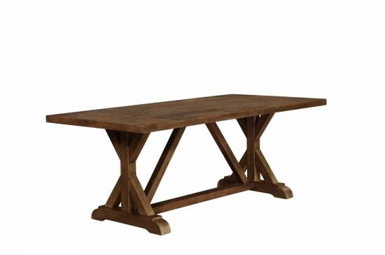 Coaster Bridgeport Rustic Craftsman Base Dining Table 105521