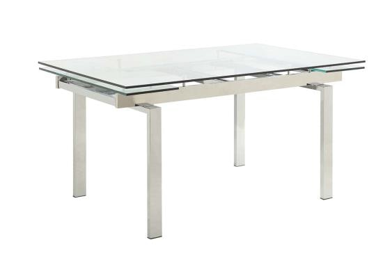 table with leaves square coaster modern dining contemporary glass table with leaves 106281