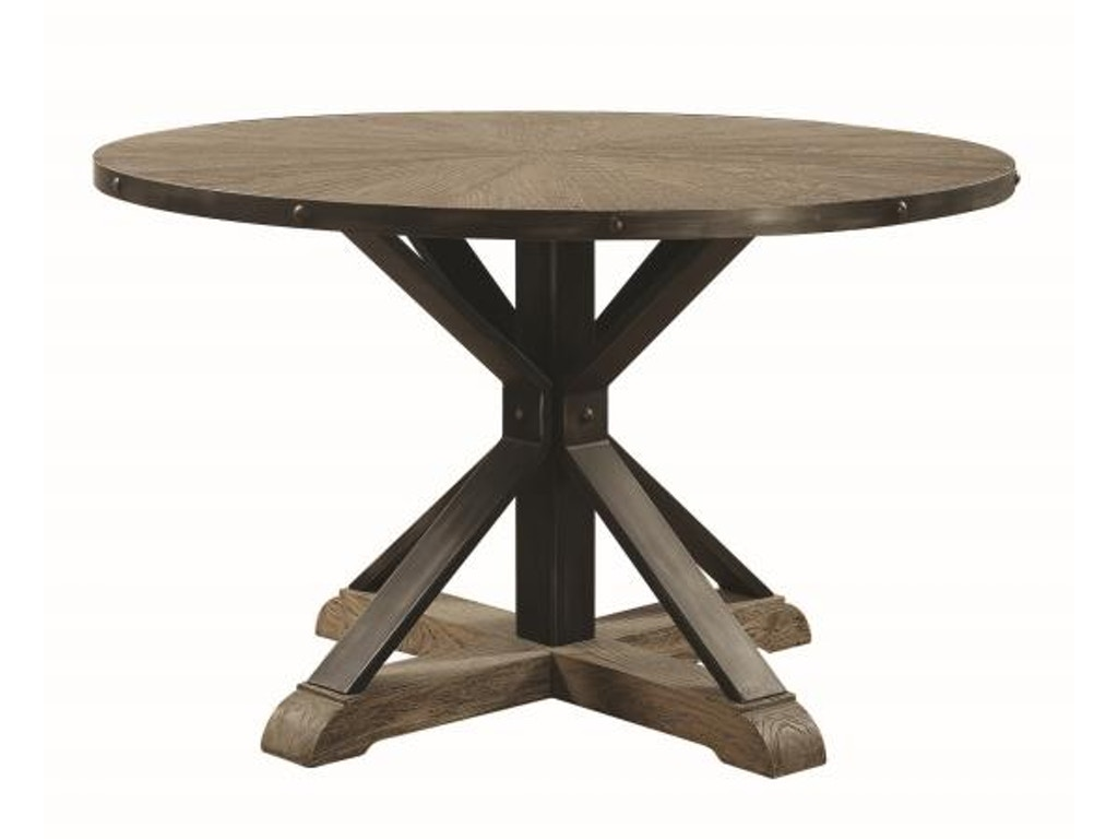 Industrial round dining table - Coaster Tobin Industrial Round Dining Table 107100