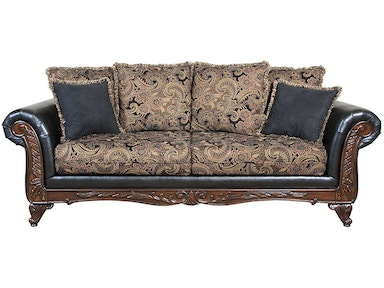 Hughes Furniture Silas Ebony Sofa 7900S
