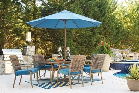 Signature Design By Ashley Partanna RECT Dining Table U0026 4 Chairs P556 625