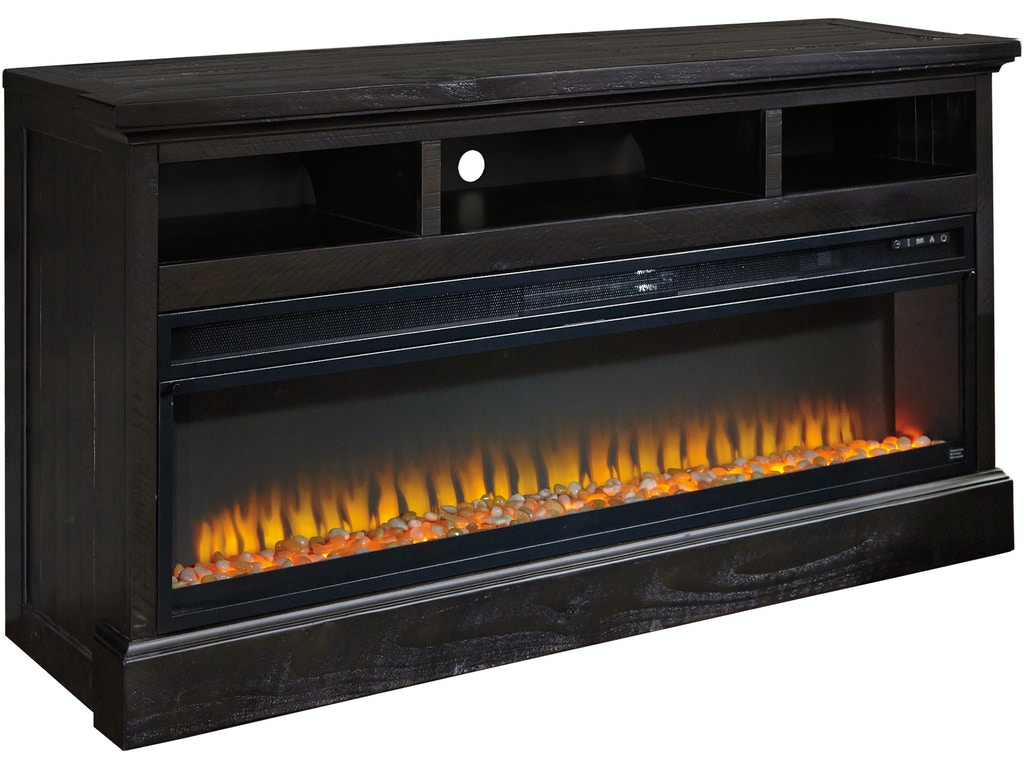 Sharlowe lg tv stand w fireplace option for Fireplace options