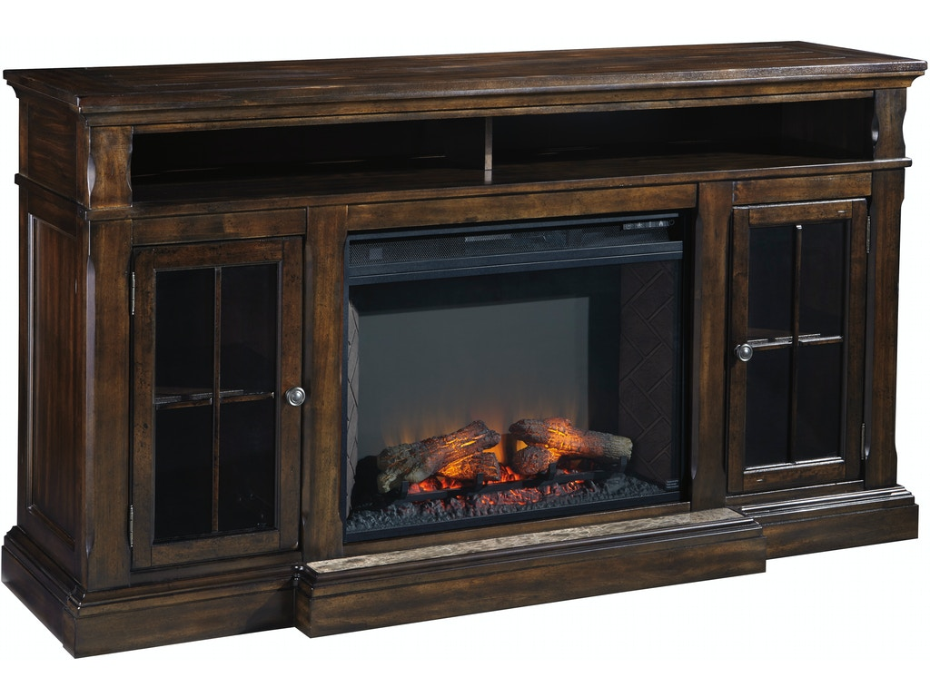 Roddinton xl tv stand w fireplace option for Fireplace options