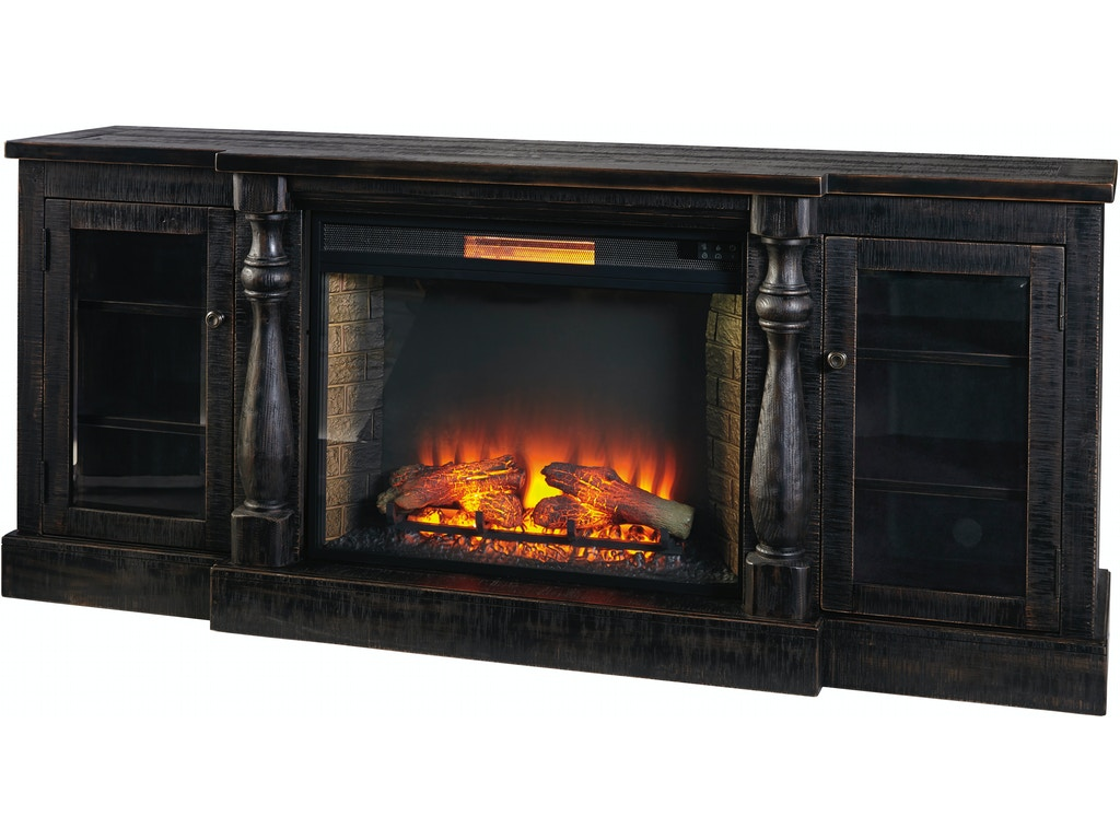 Mallacar xl tv stand w fireplace option for Fireplace options