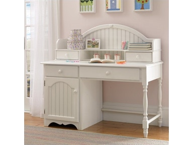 Hillsdale Furniture Westfield Desk and Hutch (WHITE) 1354D