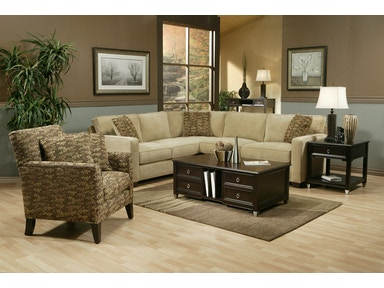 Jonathan Louis International Right Hand Facing Condo Sofa Sectional 17626R
