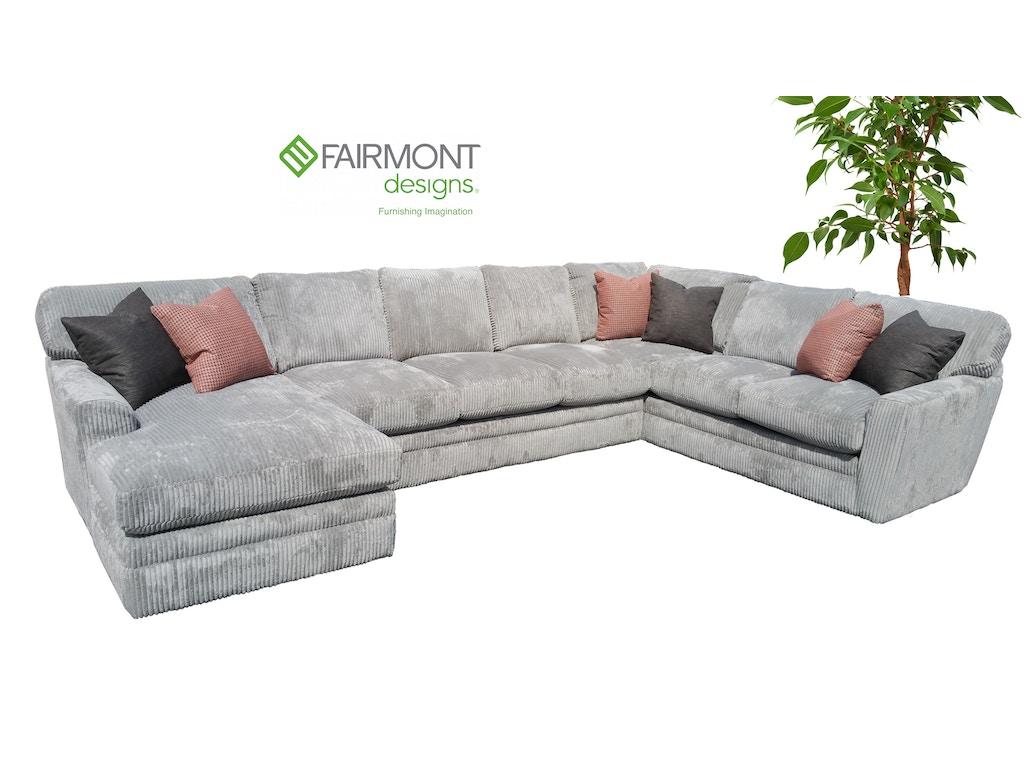 Fairmont Designs Living Room Palms Sectional D3698 Sect Furniture Plus Inc Mesa Az