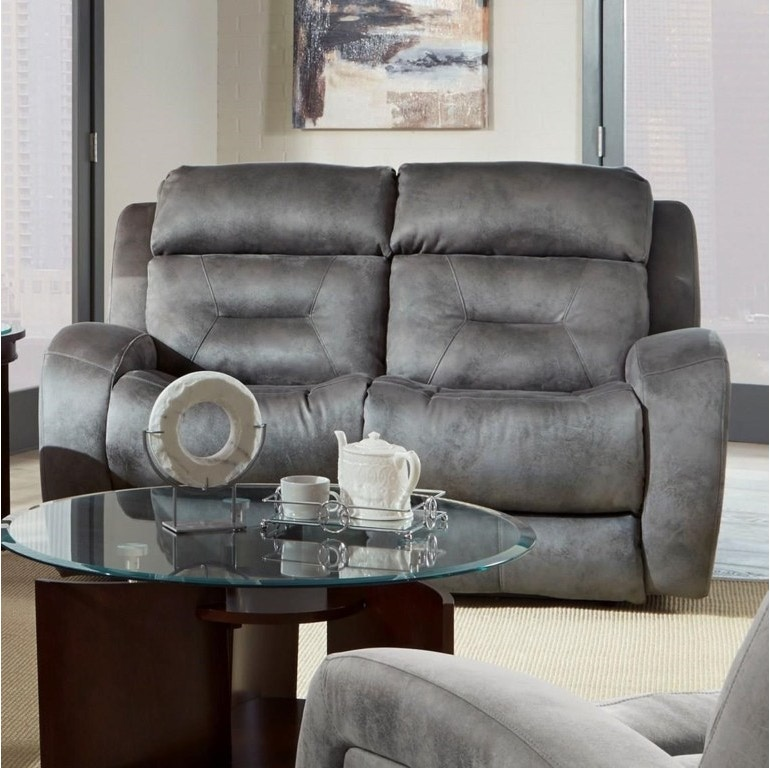 Southern Motion Living Room Double Reclining Loveseat W