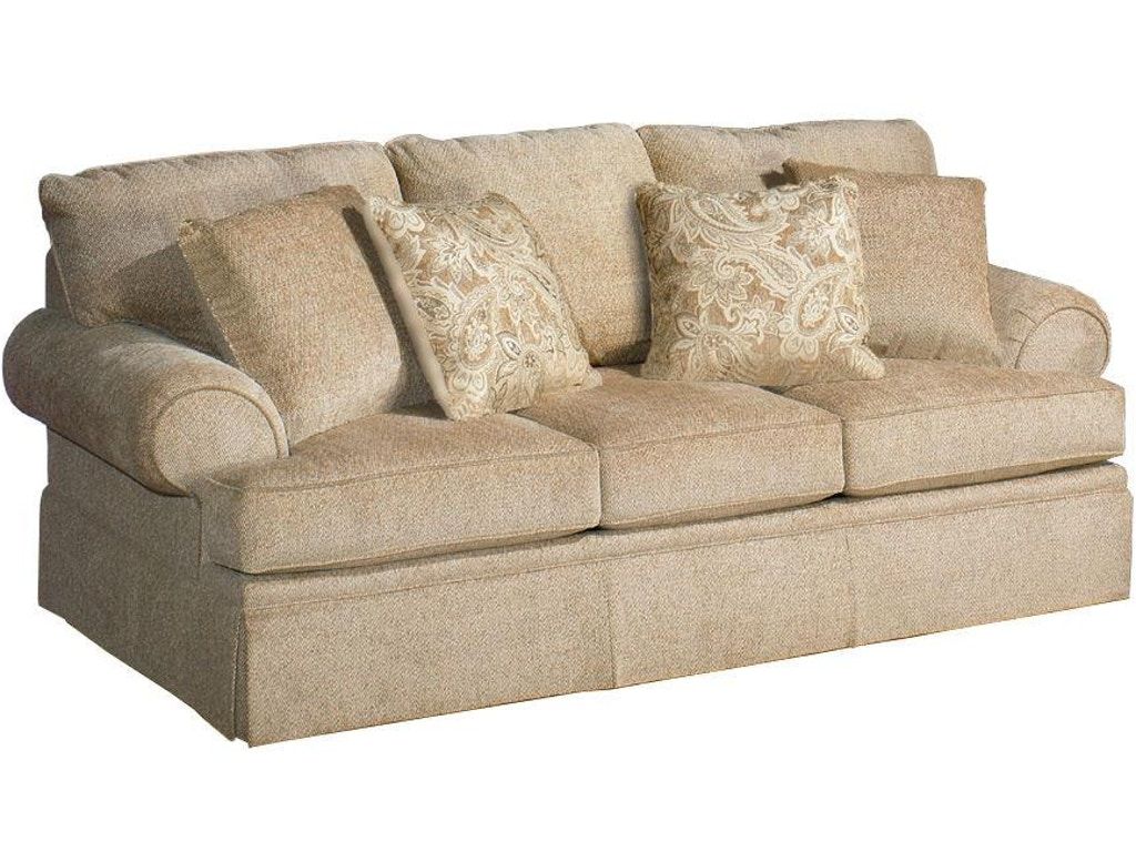 Craftmaster Living Room Three Cushion Sofa 4670 Norwood