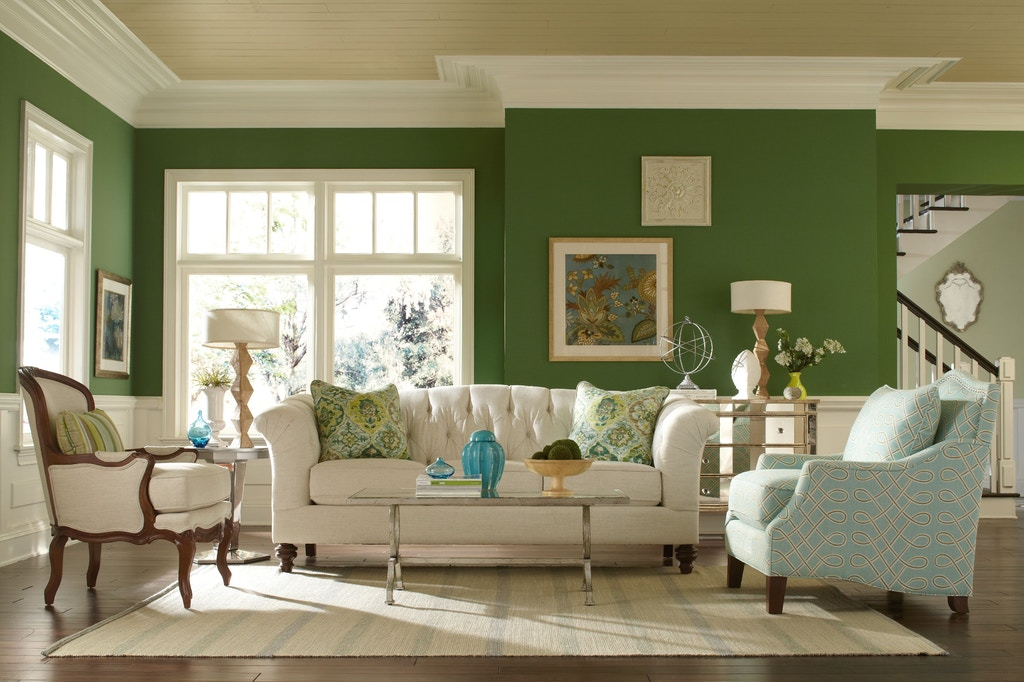 Craftmaster Living Room Taj Mahal Sofa 737750 - Norwood Furniture