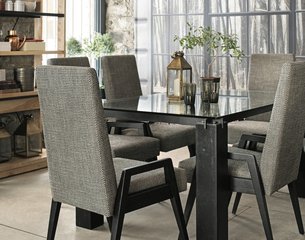 Canadel Dining Room Rectangular Glass Table With Legs ...