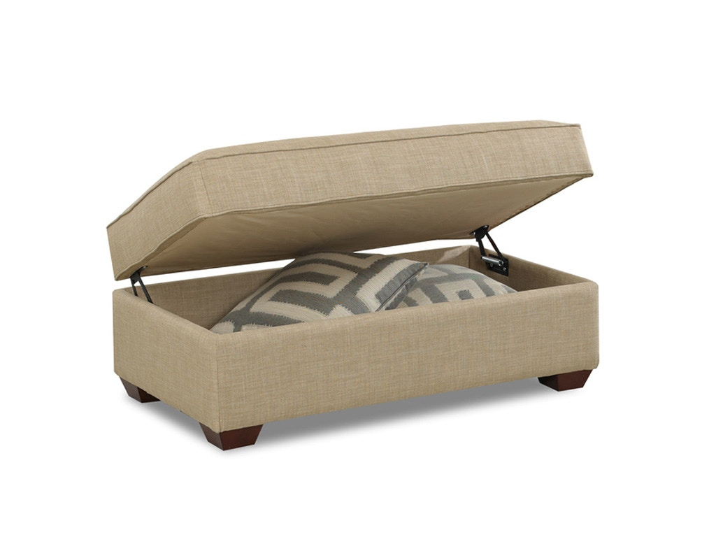 Living Room Ottoman With Storage Klaussner Living Room Selection Storage Ottoman K50000 Stgot