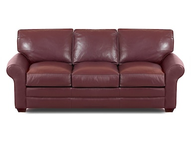 Klaussner Troupe All Leather Sofa