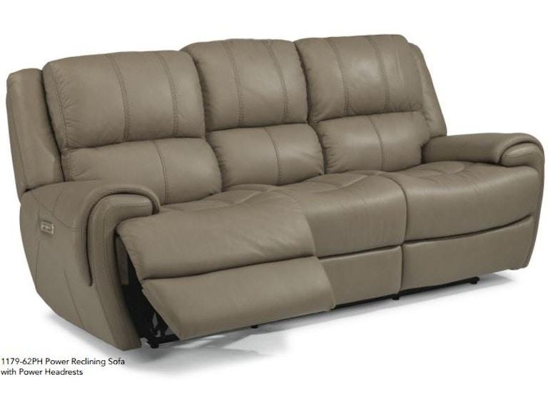 Flexsteel Living Room Nance Leather Sofa MTSOFL11792A - American ...