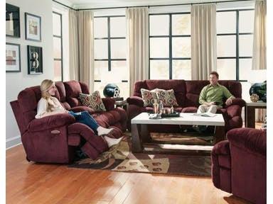 Catnapper Furniture Living Room Power Headrest Lay Flat Reclining
