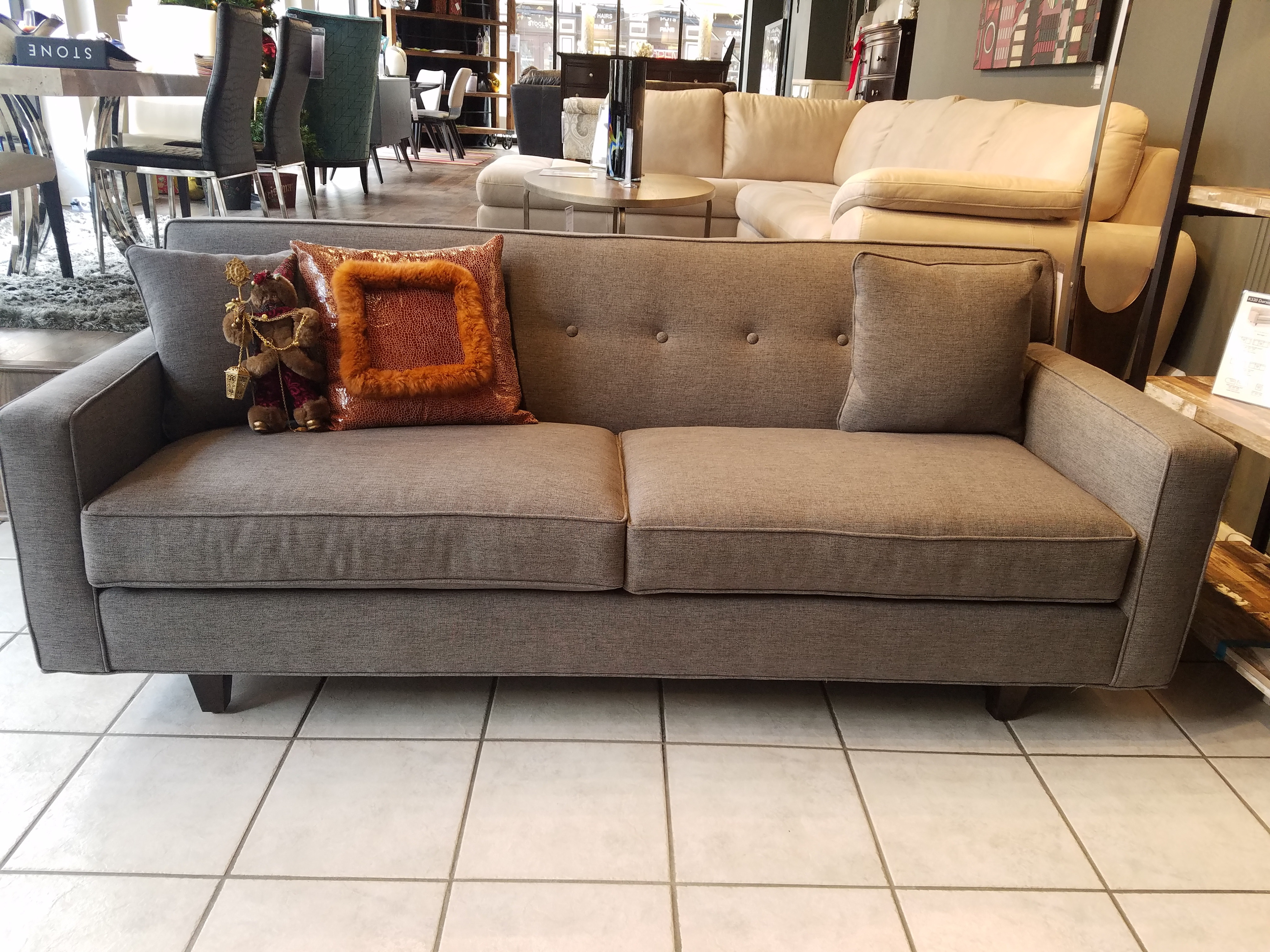 Merveilleux Rowe Dorset Chrome Medium Sofa K520RC 000