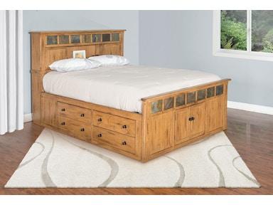 Sunny Designs Sedona Eastern King Storage Bed 2334ro Sek