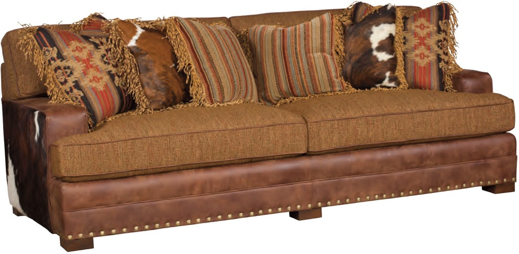 King Hickory Living Room Casbah Leather Fabric Sofa 1100-TBM ...