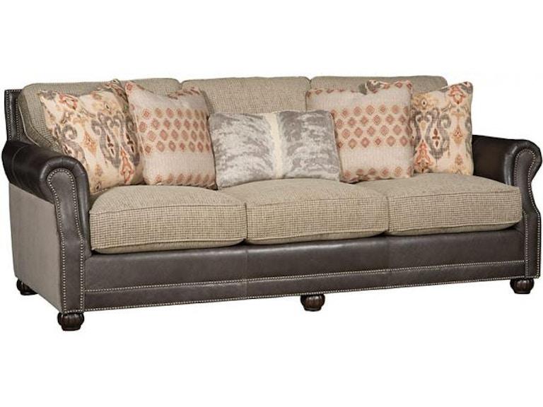 King Hickory Living Room Julianna Leather Fabric Sofa 3000 ...