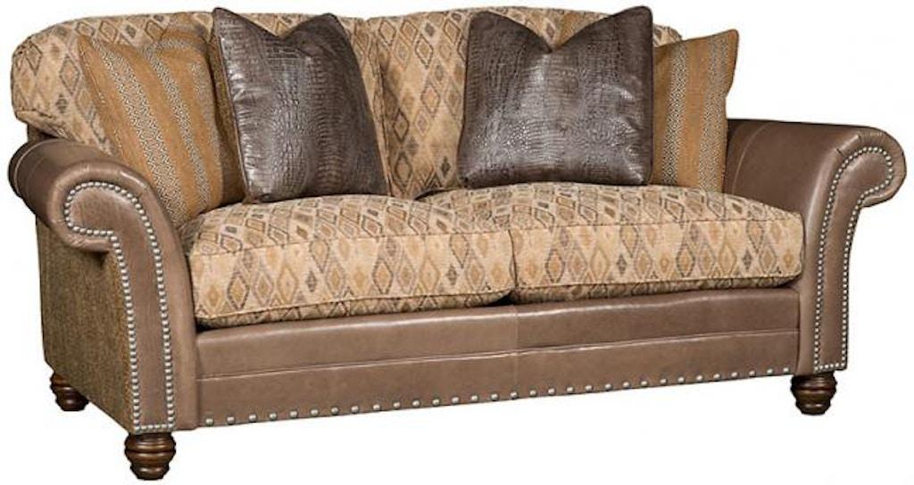 King Hickory Living Room Katherine Leather/Fabric Sofa 9700-LF ...