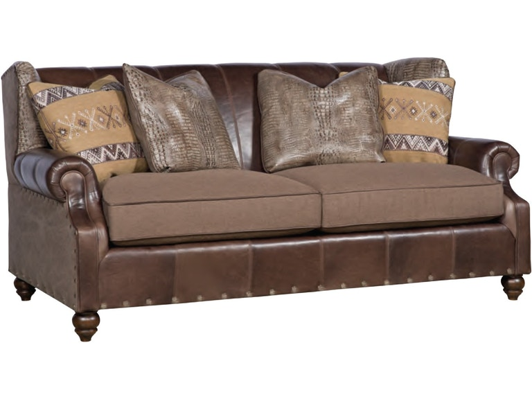 King Hickory Living Room Lucy Leather Fabric Sofa 5275-LF - Mountain ...