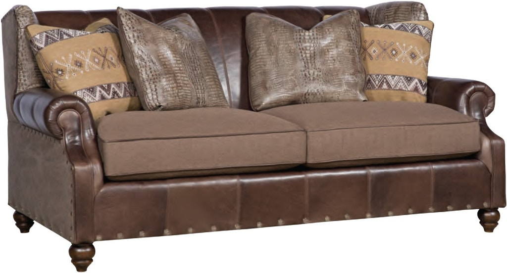 Astonishing King Hickory Living Room Lucy Leather Fabric Sofa 5275 Lf Beutiful Home Inspiration Xortanetmahrainfo