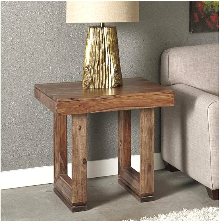Jadu Accents Living Room End Table Solid Wood 98238 Woodworks Home Furnishings Miami Florida
