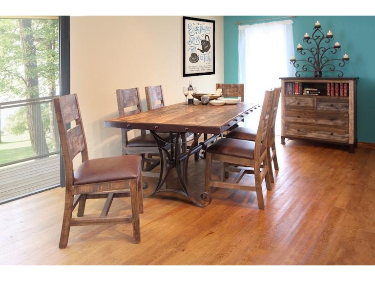 A America Dining Room Ozark Trestle Table 4 Side Chairs Oza Ma 6