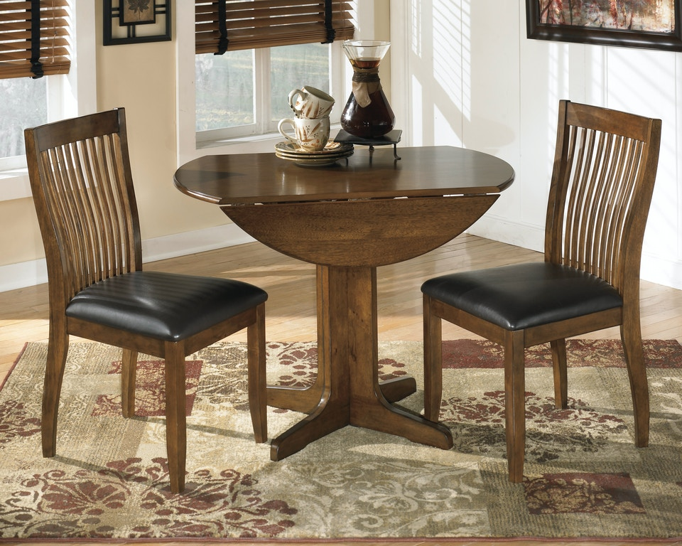 Round Drop Leaf Table AND 2 Side Chairs