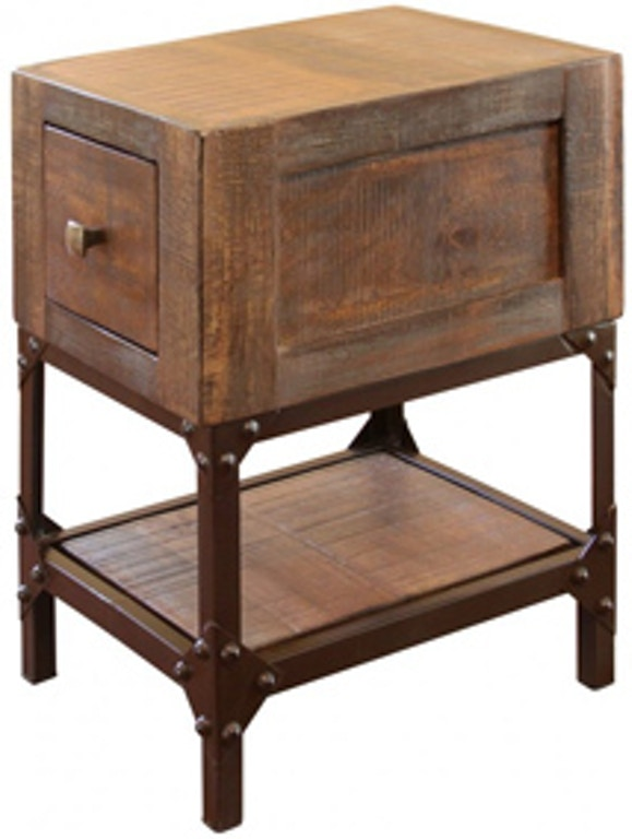 Chairside Table W 1 Drawer Urban Gold