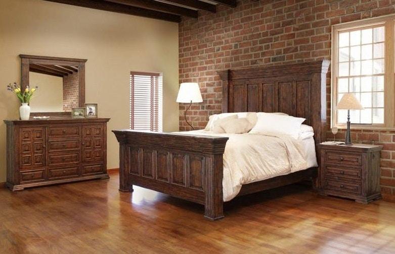 Ordinaire International Furniture Direct Cal King Panel Bed Terra 222835P