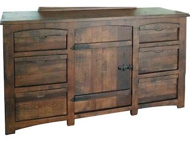International furniture direct bedroom dresser 6 drawer 1 door mezcal 567352 naturwood home for Bedroom furniture in sacramento