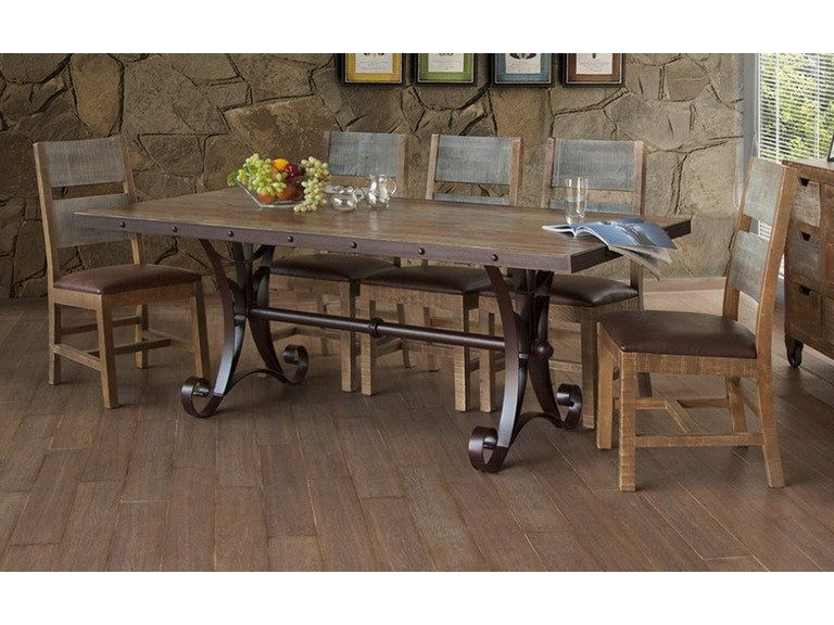 Table 40x79 Trestle Antique Multicolor