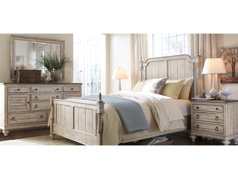 Kincaid Furniture Bedroom Queen Bed Storage Westland Weatherford 753732p At Naturwood Home