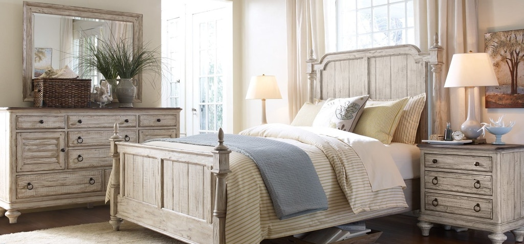 Kincaid furniture bedroom queen bed storage westland weatherford 753732p naturwood home for Bedroom furniture in sacramento