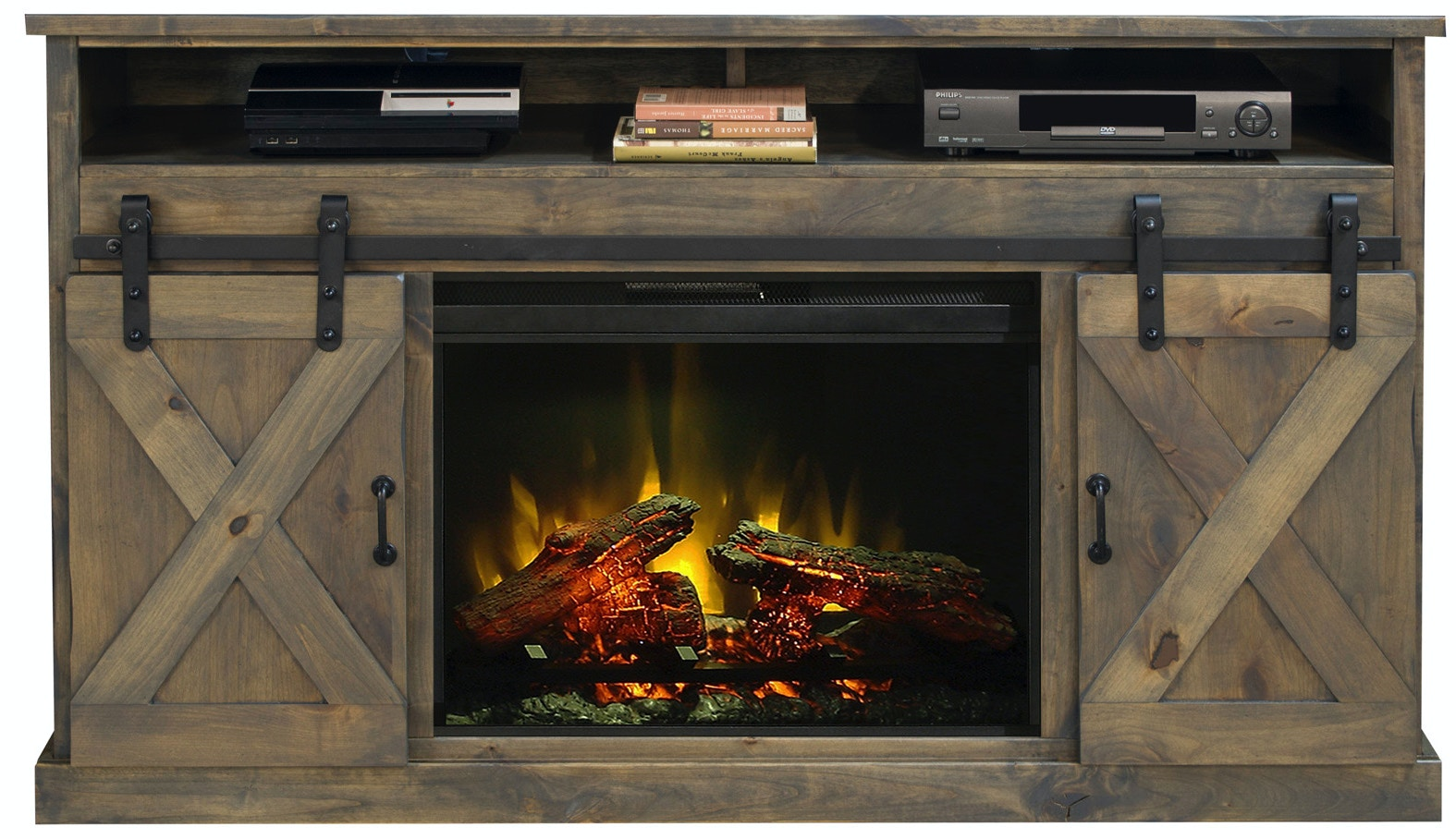 legends furniture home entertainment console tv 66 fireplace rh naturwood com console fireplace with built-in mini-fridge tv console with fireplace costco