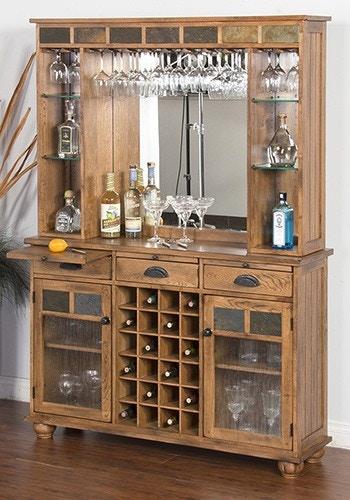 Sunny Designs Bar Back Sedona Rustic Oak 292891P