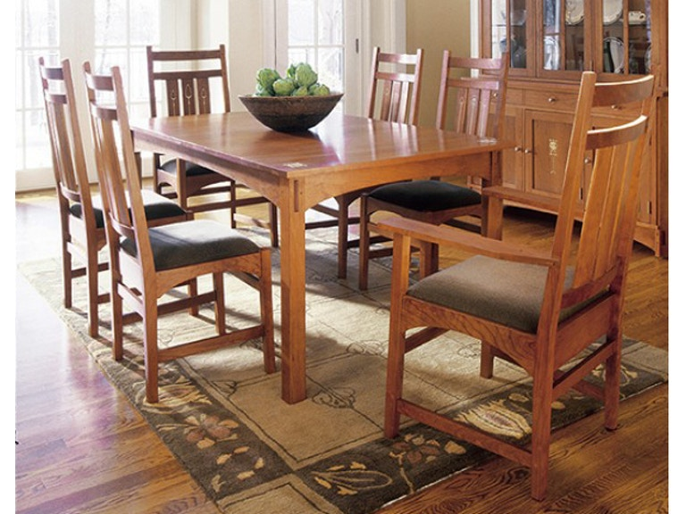 Stickley Dining Room Table 44x72 W 2 15LF Harvey Ellis Cherry 495495P At Naturwood Home Furnishings