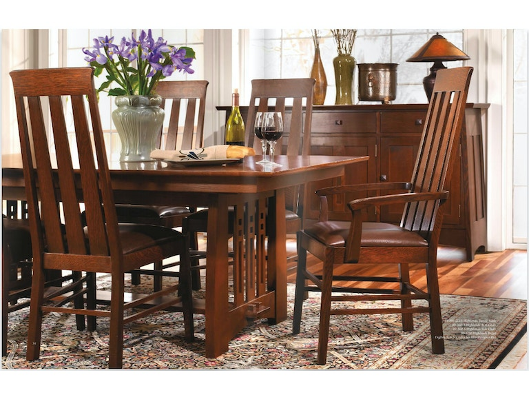 Stickley Dining Room Table 44x78 Trestle W 2 18lf Highlands 810053p At Naturwood Home Furnishings