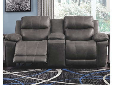 Ashley Erlangen Power Reclining Loveseat With Console