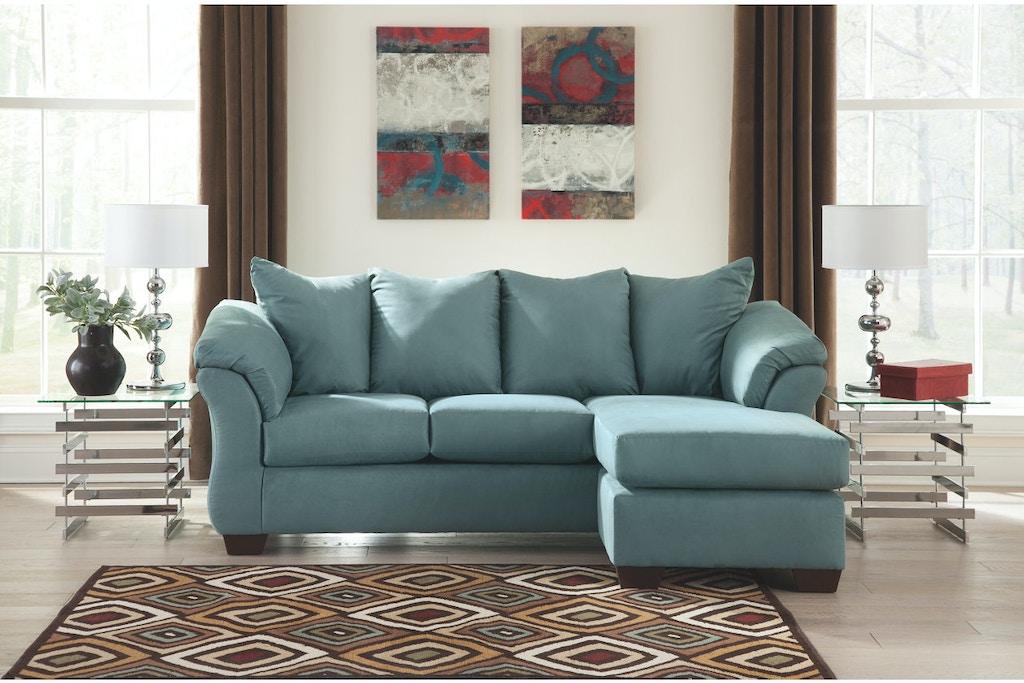 Ashley darcy sofa chaise 7500618 portland or key home - Living room furniture portland oregon ...