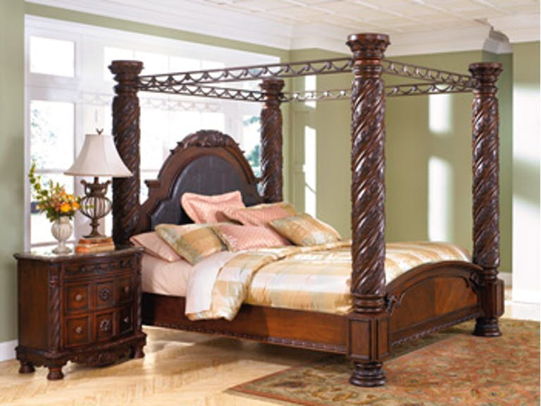Ashley North Shore King Poster Bed B553 172 151 162 150 199 Portland Or Key Home Furnishings