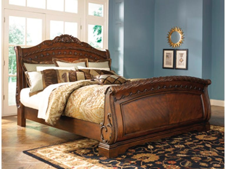 Ashley North Shore King Sleigh Bed B553 78 76 79 Portland Or Key Home Furnishings
