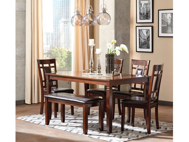 Ashley Dining Room Table Set (6/CN) D384-325 in Portland  sc 1 st  KEY Home Furnishings & Ashley Bennox Dining Room Table Set (6/CN) D384-325 - Portland OR ...