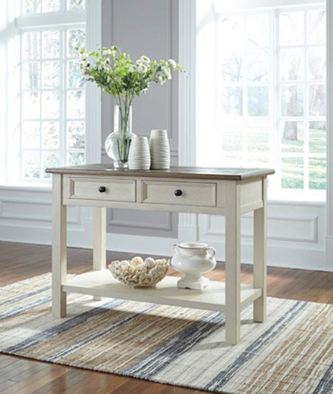 Ashley Furniture San Marcos Ca: Ashley Bolanburg Sofa/Console Table T637-4