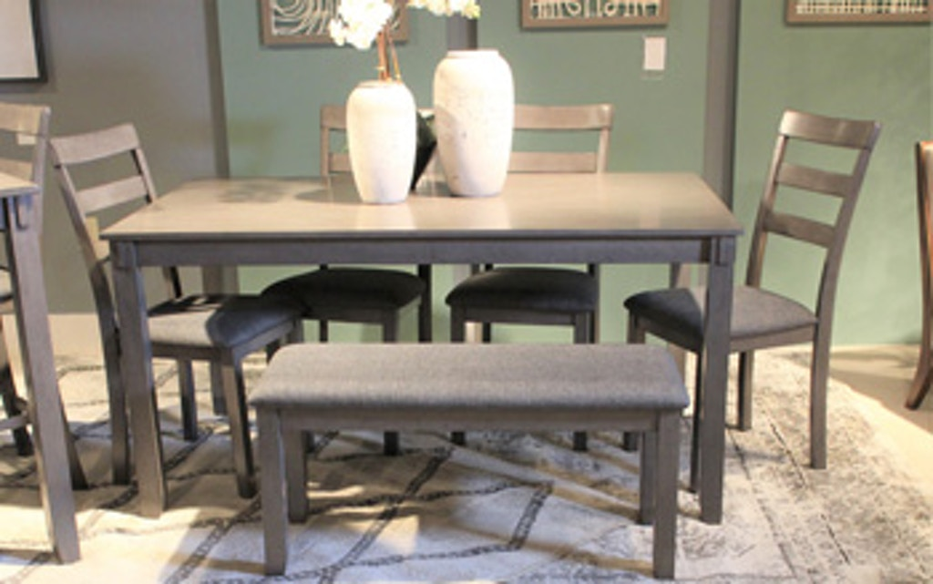 Ashley Bridson Dining Room Table and Chairs with Bench (Set ...