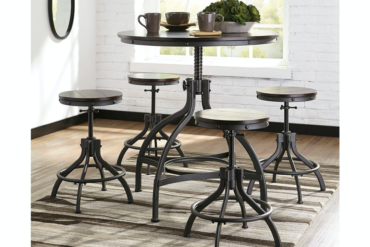 Ashley DRM Counter Table Set (5/CN) D284 223 In Portland,