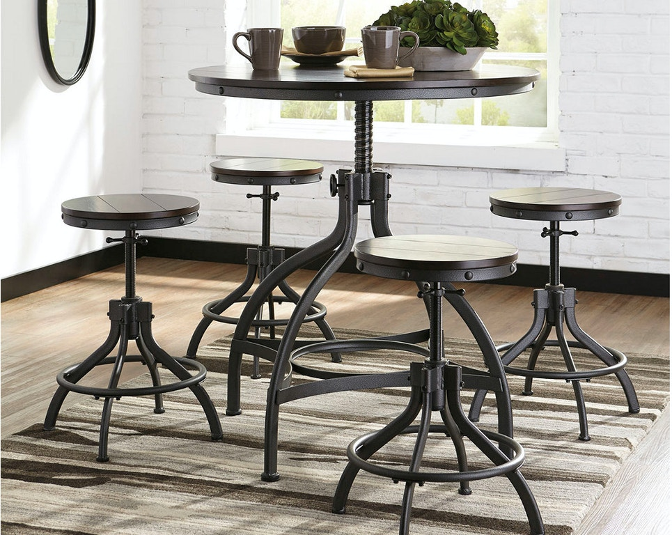 Ashley Odium Counter Height Dining Room Table And Bar